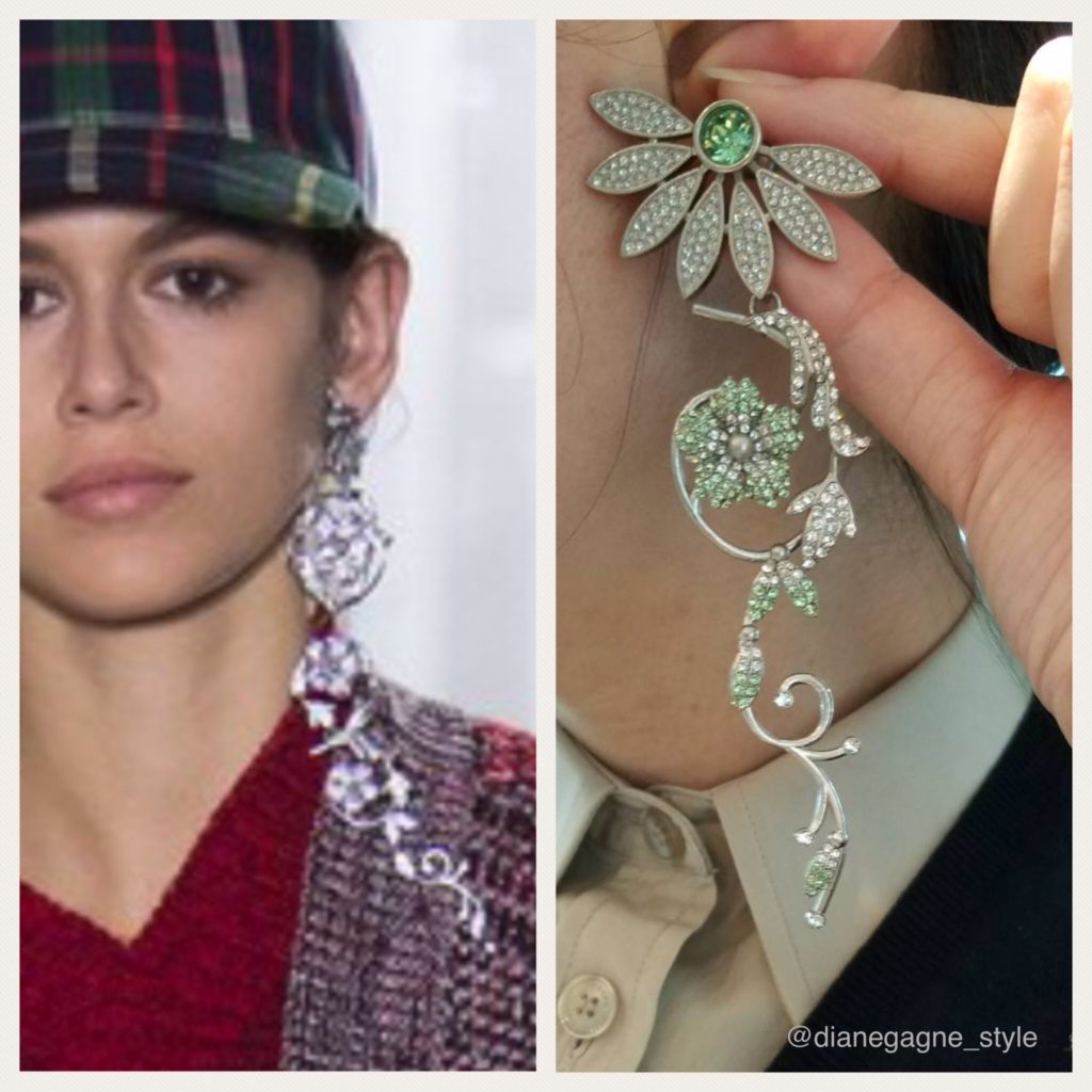 Burberry Fall 2017 daisy earrings