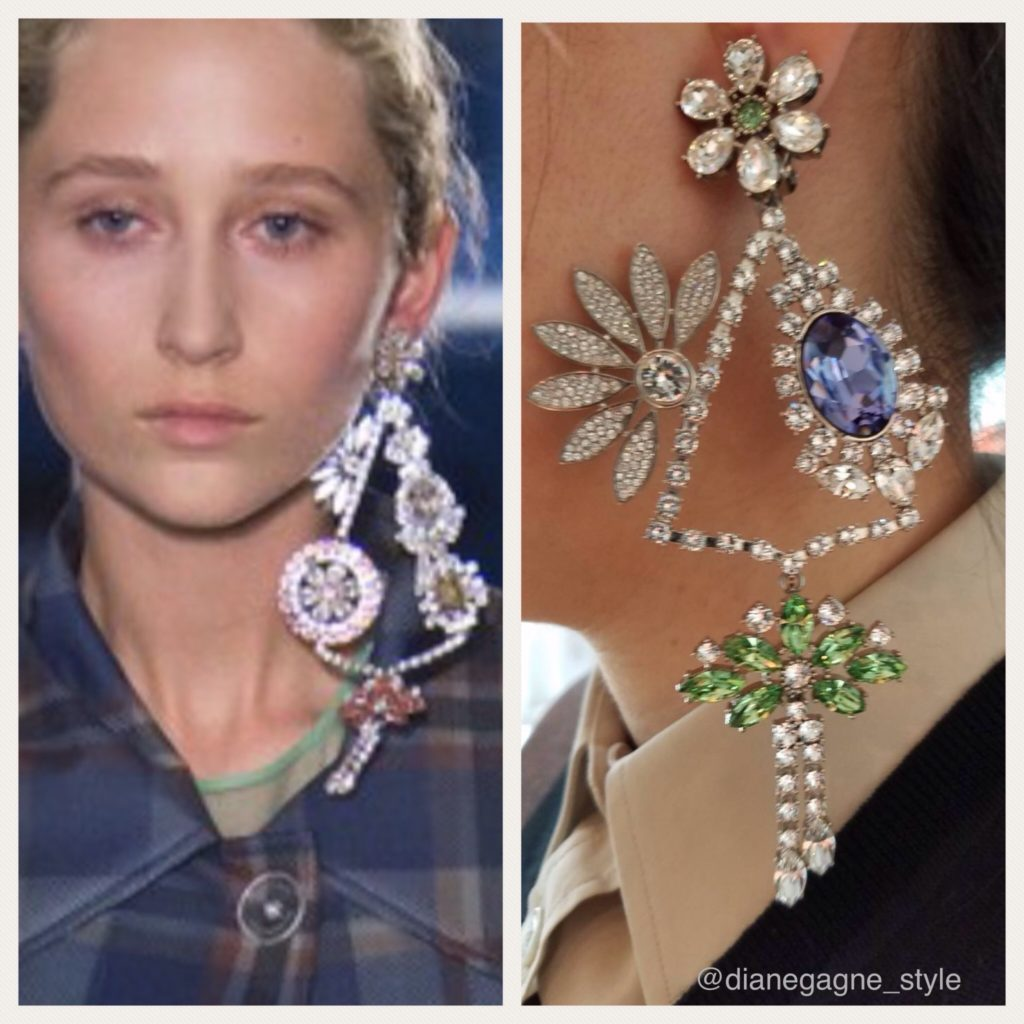 Burberry Fall 2017 earrings
